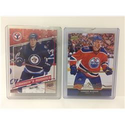 CONNOR MCDAVID & PATRIK LAINE UPPER DECK ROOKIE HOCKEY CARDS