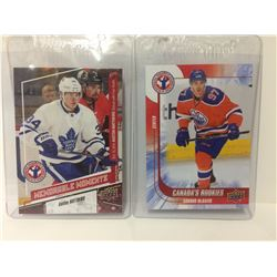 AUSTON MATTHEWS & CONNOR MCDAVID UPPER DECK HOCKEY CARDS