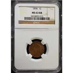 1898 INDIAN CENT NGC MS-63 RB