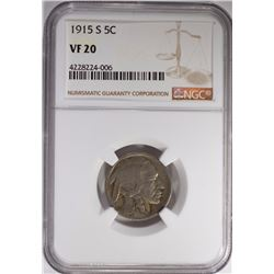 1915-S BUFFALO NICKEL NGC VF-20
