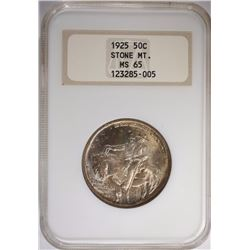 1925 STONE MOUNTAIN HALF NGC MS-65