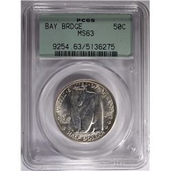 1936-S BAY BRIDGE HALF PCGS MS-63