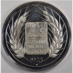 1973 INDIA 10 RUPEES, PROOF, LOW MINTAGE
