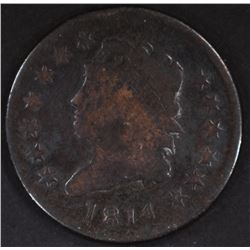 1814 CLASSIC HEAD LARGE CENT, GOOD