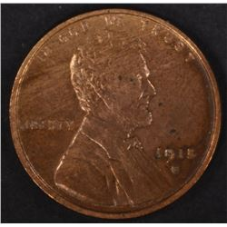 1915-S LINCOLN CENT, BU cleaned