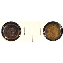 2-CIVIL WAR TOKENS ATTRIBUTED IN 2X2 COIN FLIPS