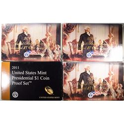 2008-2011  U.S. PRESIDENTIAL PROOF SETS