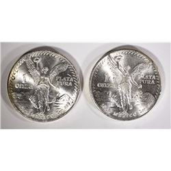 2-1982 MEXICO ONE OUNCE SILVER LIBERTADS