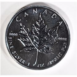 NICE BU 1988 CANADA SILVER MAPLE LEAF