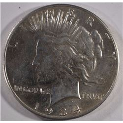 1934-S PEACE SILVER DOLLAR AU  KEY COIN