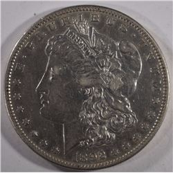 1892-S MORGAN SILVER DOLLAR XF-AU  SEMI-KEY