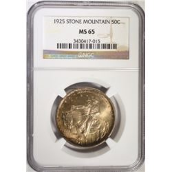 1925 STONE MOUNTAIN COMMEM HALF NCG MS-65