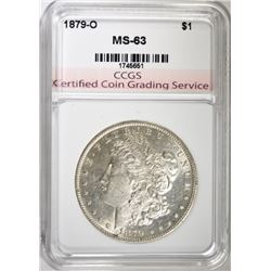 1879-O MORGAN SILVER DOLLAR, CCGS CHOICE BU