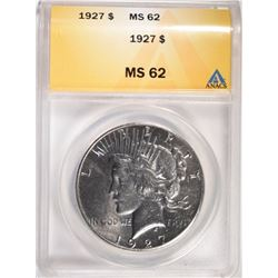 1927 PEACE DOLLAR, ANACS MS-62