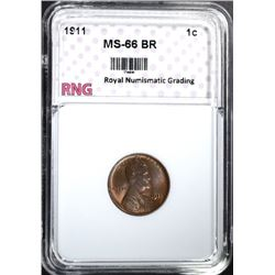 1911 LINCOLN CENT RNG SUPERB GEM BR