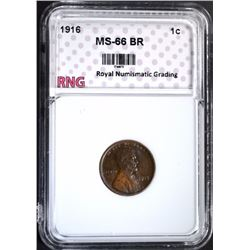 1916 LINCOLN CENT RNG SUPERB GEM BR