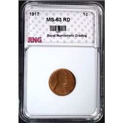 1917 LINCOLN CENT RNG CH BU RD