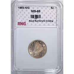 1883 N/C LIBERTY NICKEL RNG GEM BU
