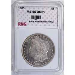 1880 MORGAN DOLLAR RNG GEM BU DMPL