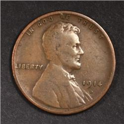 1914-D LINCOLN CENT  SOLID VG/FINE  KEY COIN