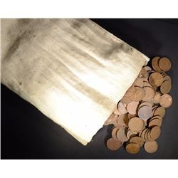 2000 CIRC MIXED DATE LINCOLN CENTS IN CANVAS BAG