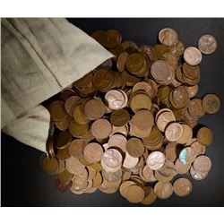 CANVAS BAG OF 5000 CIRC LINCOLN WHEAT CENTS