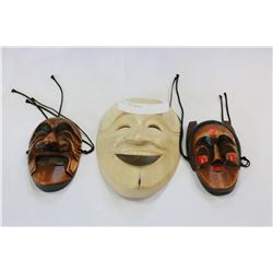 THREE WOOD MASKS