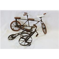 TWO REPRODUCTION DECORATIVE BIKES