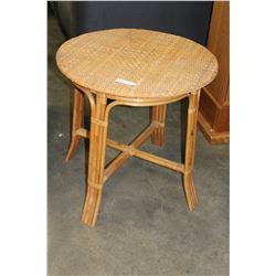 RATTAN PATIO TABLE