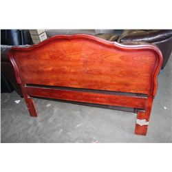 MAHOGANY FRENCH PROVINCAL HEADBOARD