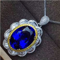Natural Royal Blue Tanzanite 14 Carats Pendant