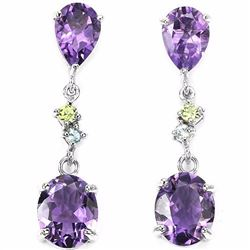 Natural Amethyst 30 Carats Earrings