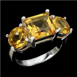 Natural  Golden Yellow Citrine Ring