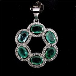 Natural Zambian Green Emerald 21 Carats Pendant