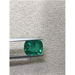 Natural Columbian Emerald 3.11 Carats - GRS Certified