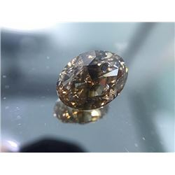 Natural Oval Champagne Diamond 7.10 carats - SI