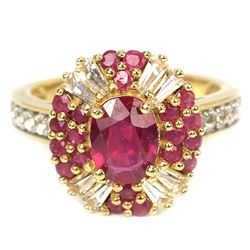 Genuine Red  Ruby Ring