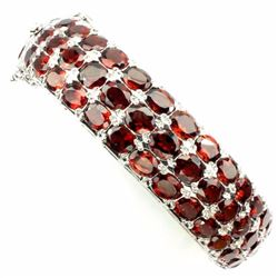 Natural Orange Mozambique Garnet 213 Carats Bangle