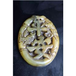 Old Chinese Jade Hand Carved Pendant