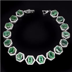Natural  Green Emerald 97 Carats Bracelet