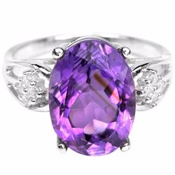 Natural Purple Amethyst 20 Cts Ring