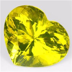 Natural Lemon Yellow Prasiolite Heart 61.25 Carats- VVS