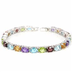 Natural Multi Gemstones 82 Carats Bracelet