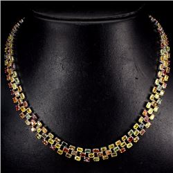 Natural Fancy Sapphire 725 Carats Necklace