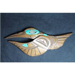 West Coast Native Hand Carved Hummingbird