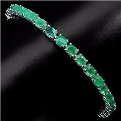 Natural Oval  Green Emerald 57 Cts Bracelet