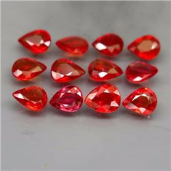 Natural Pear Red Sapphire 3.86 Cts