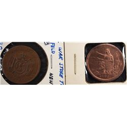 2-CIVIL WAR STORE CARD TOKENS ATTRIBUTED IN FLIPS