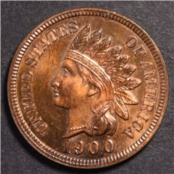1900 INDIAN HEAD CENT, CH BU RB