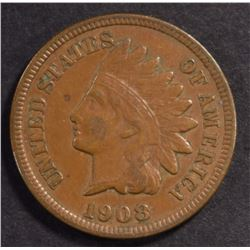 1908-S INDIAN HEAD CENT, XF+